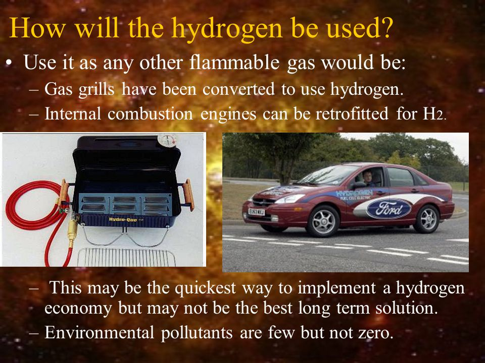 How will the hydrogen be used.