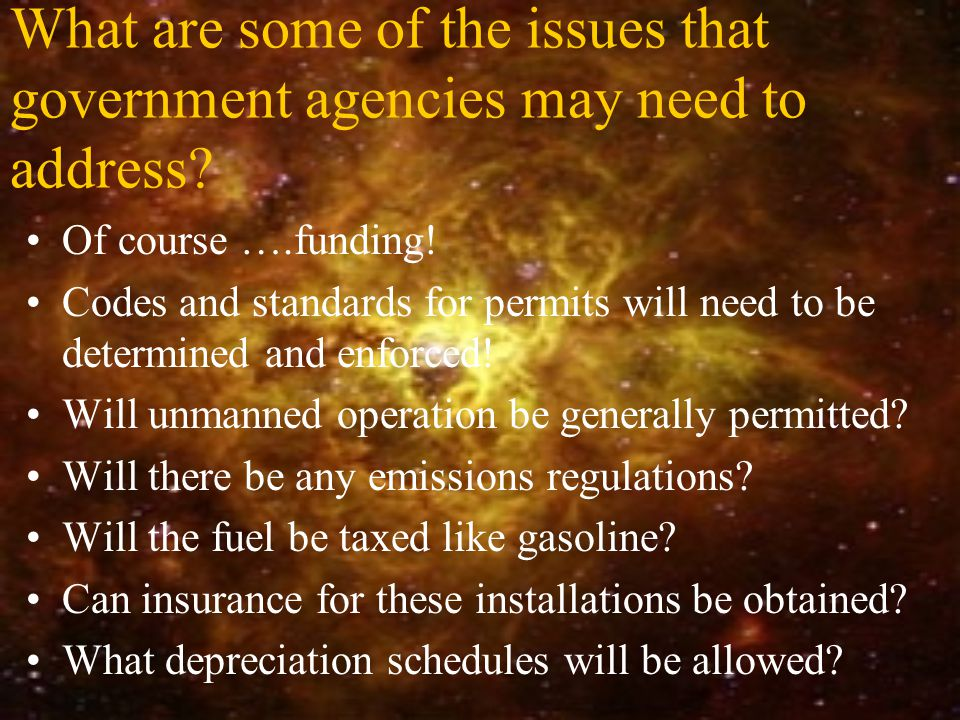 What are some of the issues that government agencies may need to address.