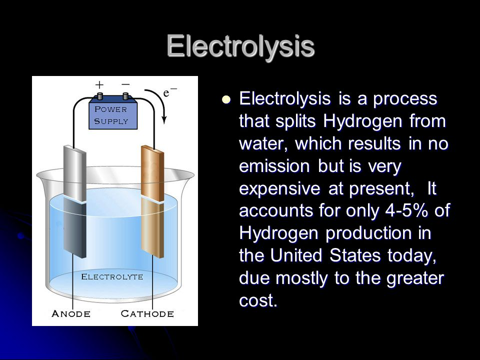 Steam Reforming Steam reforming is currently the least expensive method of producing hydrogen and is accountable for 95-96% of the hydrogen produced in the United States.