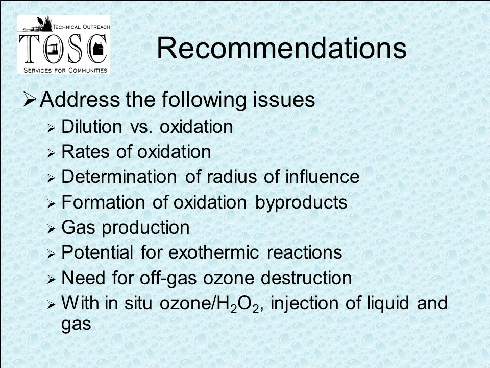 Recommendations  Address the following issues  Dilution vs.