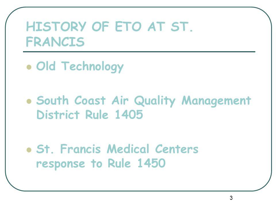 3 HISTORY OF ETO AT ST.