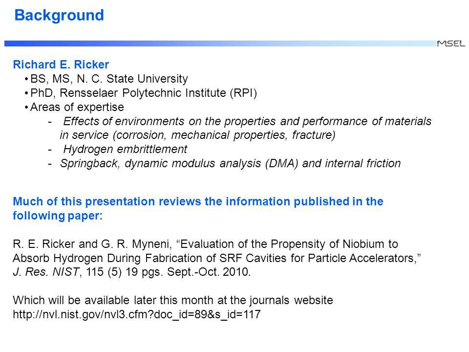 Richard E. Ricker BS, MS, N. C.