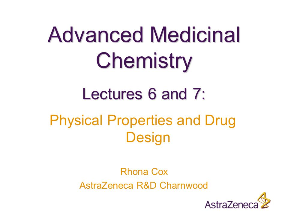  Introduction  Ionisation  Lipophilicity  Hydrogen bonding  Molecular size  Rotatable bonds  Bulk physical properties  Lipinski Rule of Five  The Drug Design Conundrum Overview Two lectures