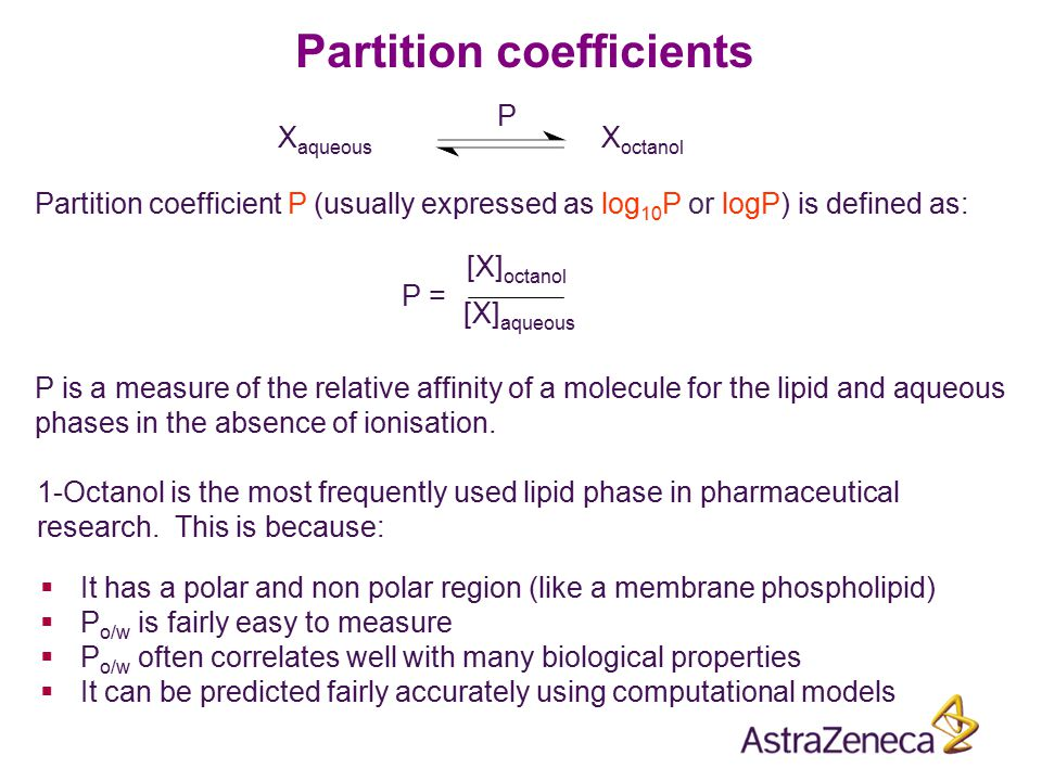 1-Octanol is the most frequently used lipid phase in pharmaceutical research. This is because:  It has a polar and non polar region (like a membrane