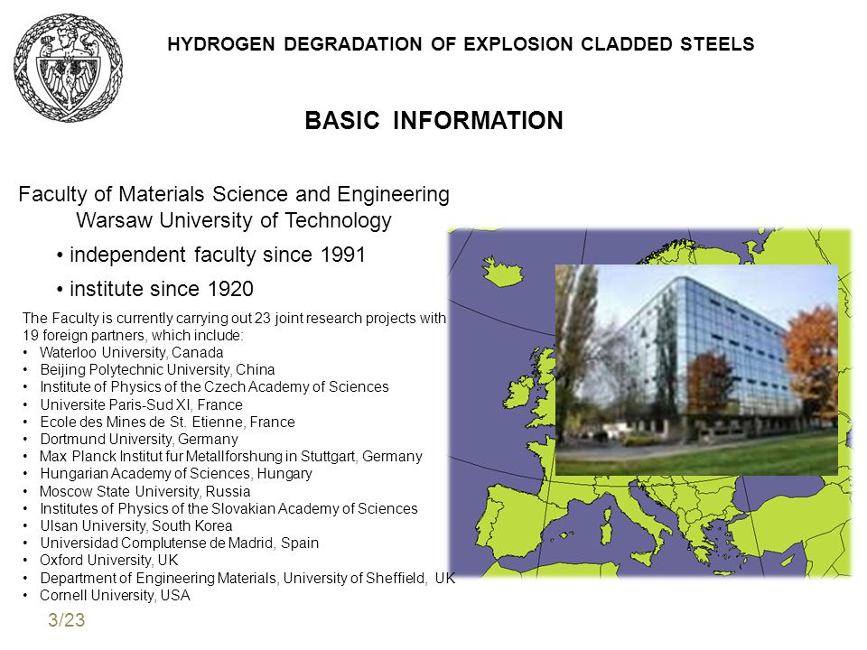 HYDROGEN DEGRADATION OF EXPLOSION CLADDED STEELS structural steels hydrogen degradation (hydrogen corrosion) microstructural changes reduction of useful properties clad plates disbonding differences in: diffusion and solutibility of hydrogen temperature crystalographic structure R.