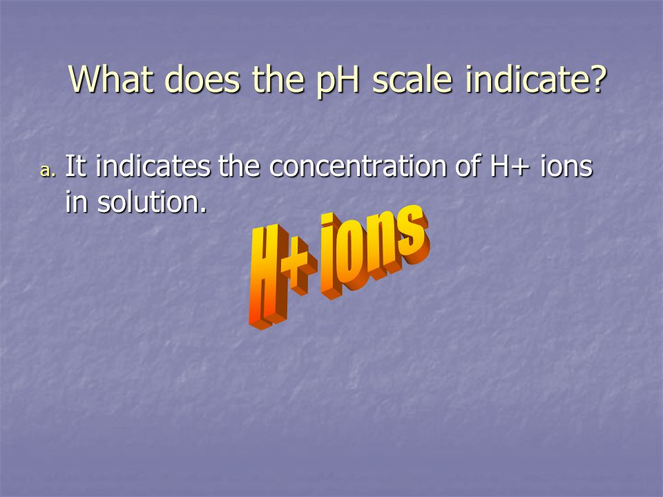What does the pH scale indicate.What does the pH scale indicate.