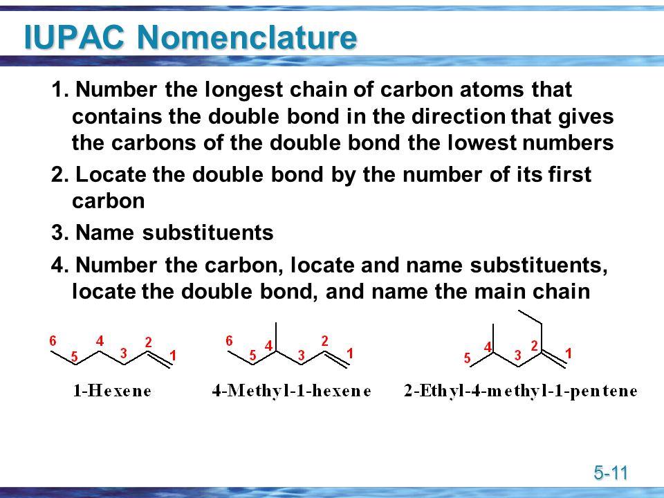 5-11 IUPAC Nomenclature 1.