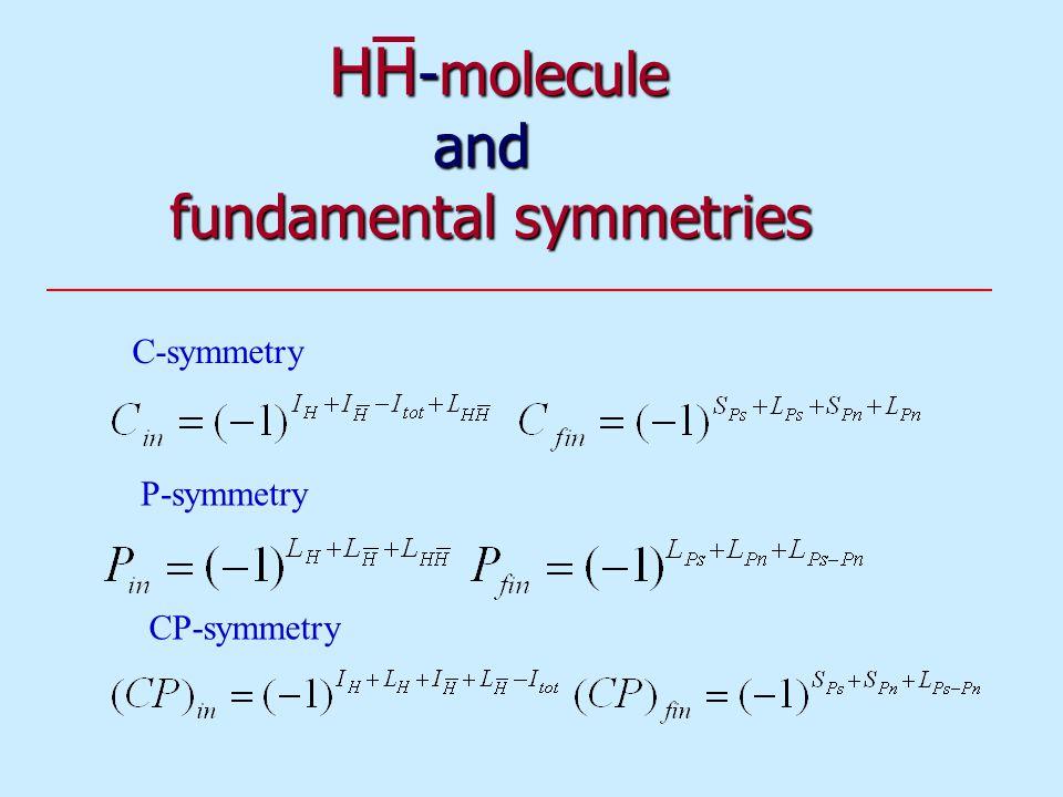HH -molecule and fundamental symmetries HH -molecule and fundamental symmetries C-symmetry P-symmetry CP-symmetry