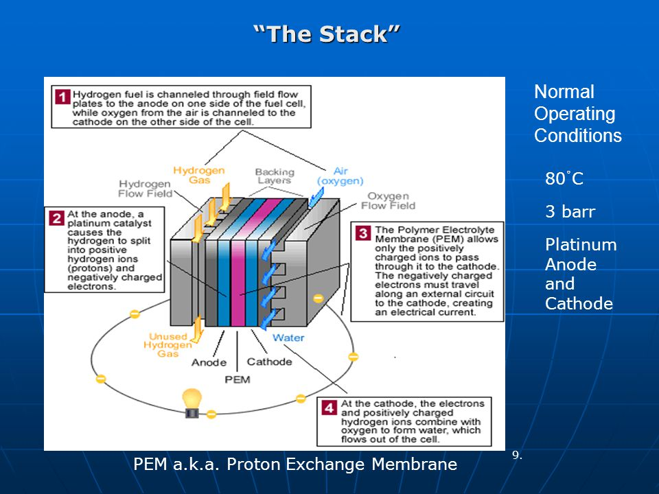 The Stack 80 C o Normal Operating Conditions 3 barr Platinum Anode and Cathode PEM a.k.a.