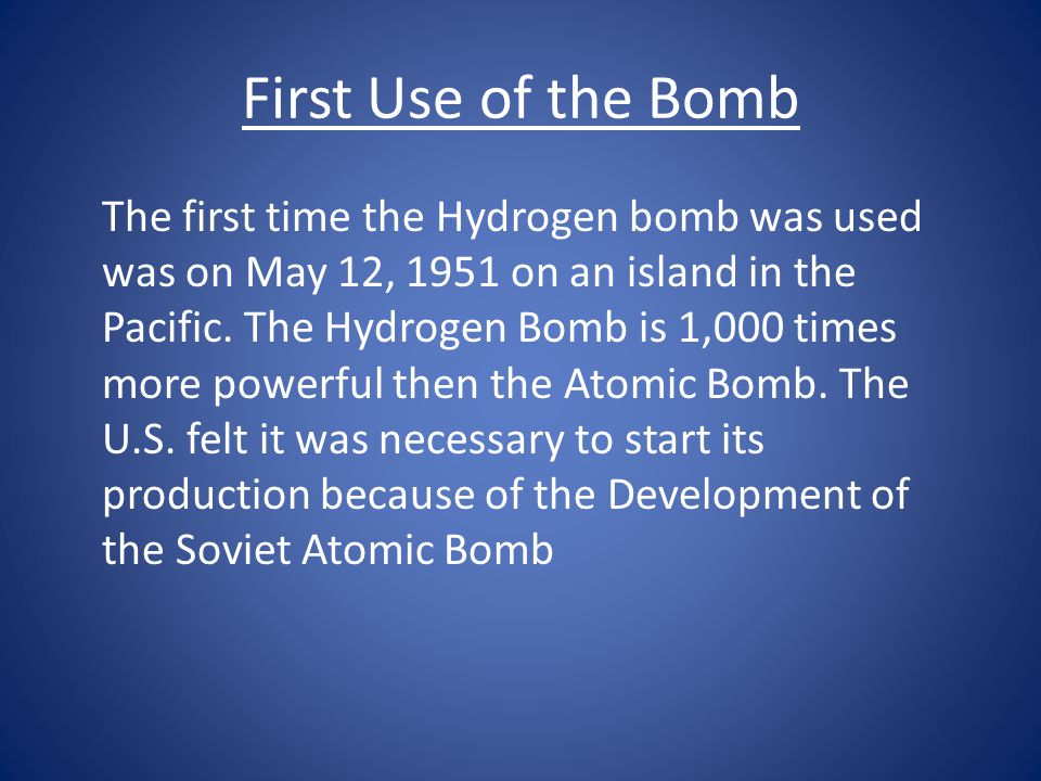 What is the Hydrogen Bomb.