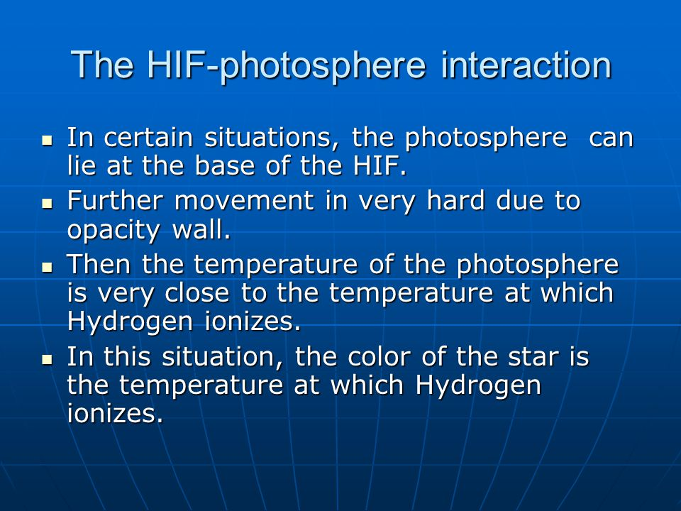 The HIF-photosphere interaction Saha ionization equation used in stellar pulsation models.