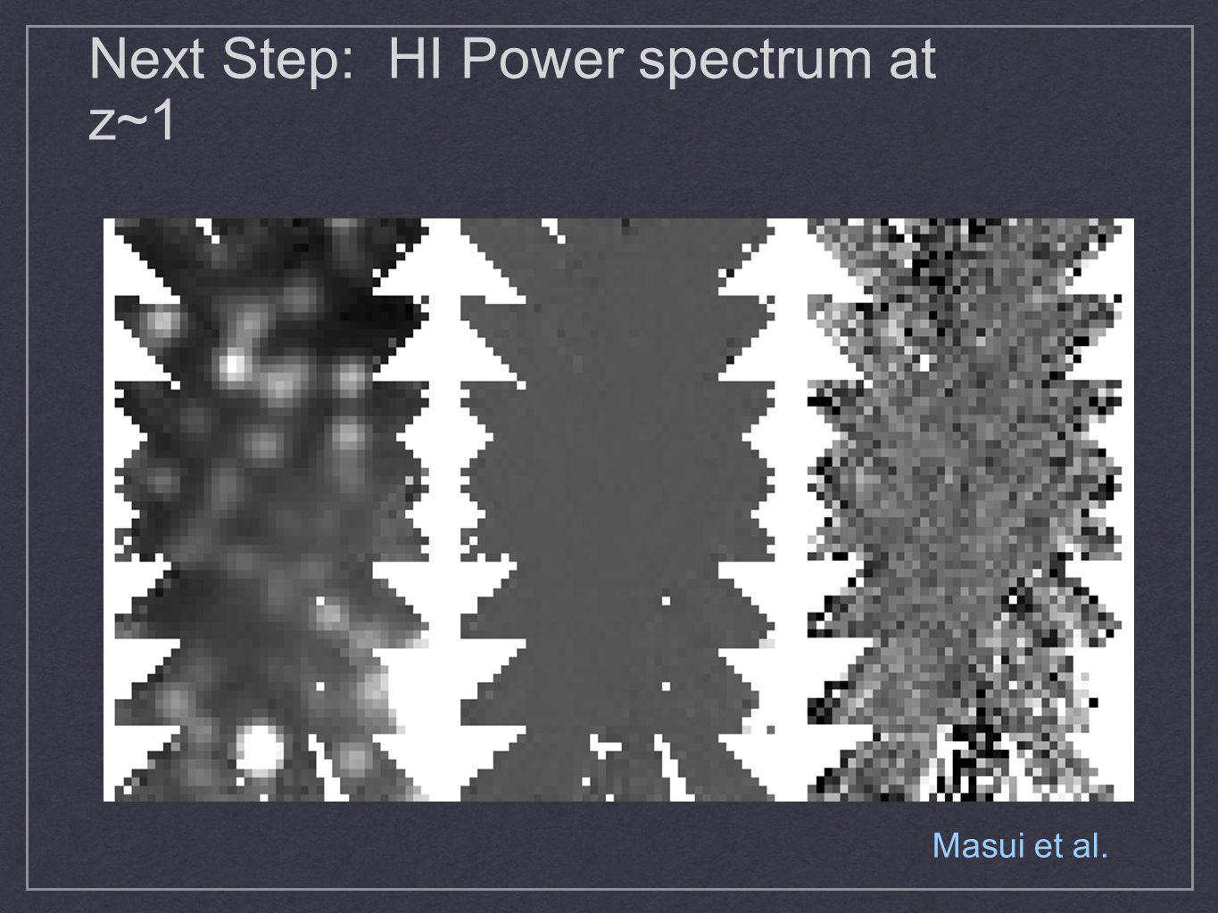 Next Step: HI Power spectrum at z~1 Masui et al.