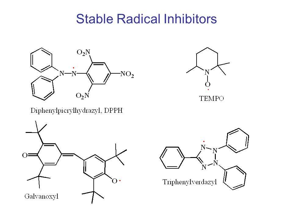 Stable Radical Inhibitors
