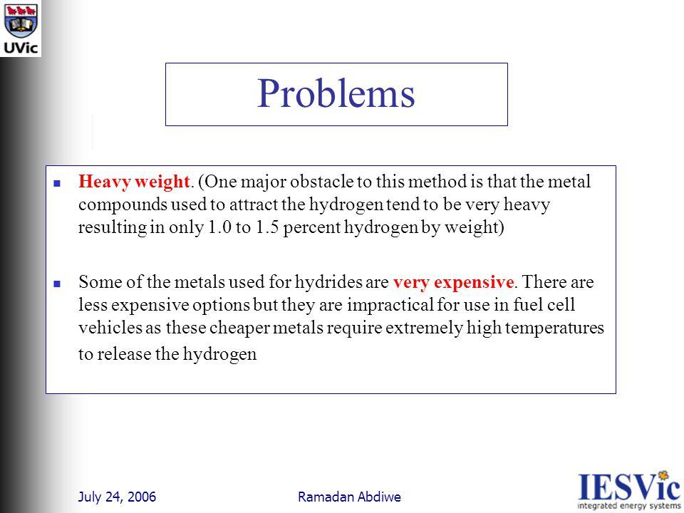 July 24, 2006 Ramadan Abdiwe Problems Heavy weight.