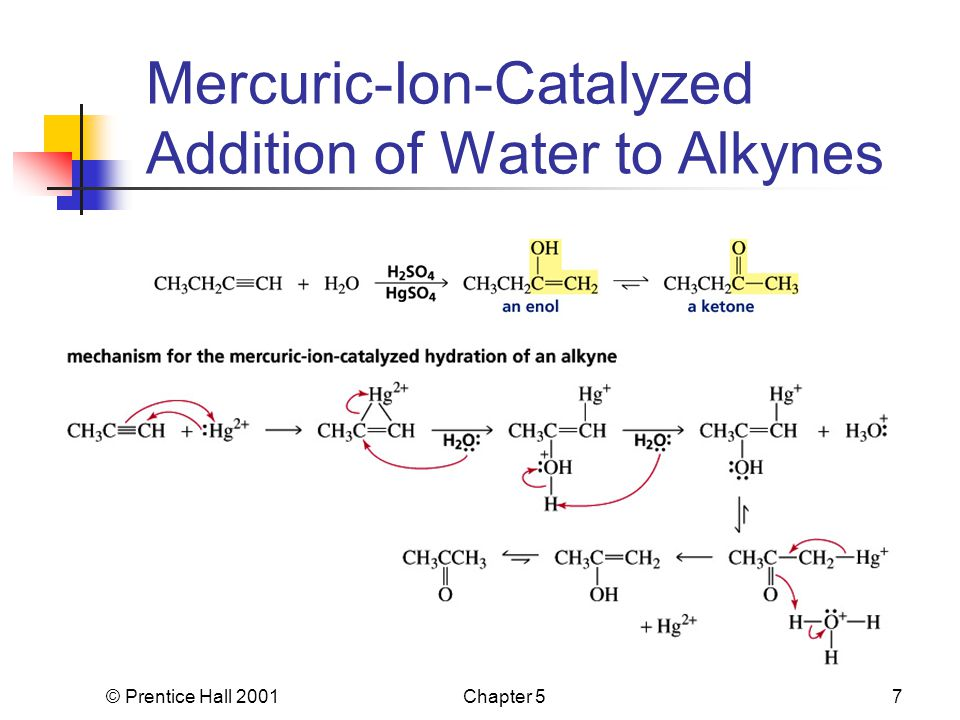 © Prentice Hall 2001Chapter 57 Mercuric-Ion-Catalyzed Addition of Water to Alkynes