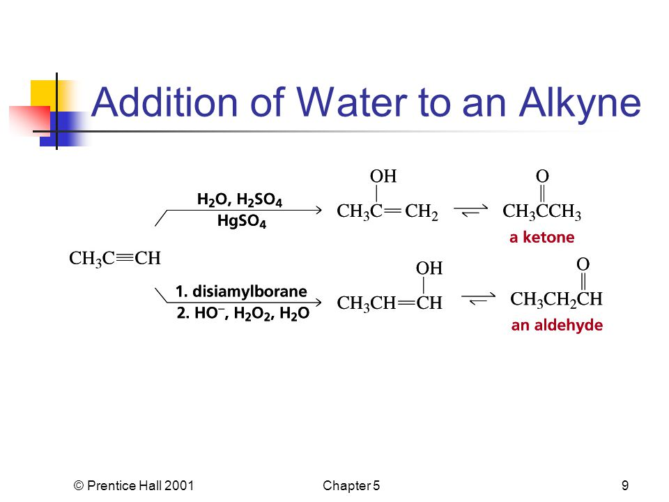 © Prentice Hall 2001Chapter 59 Addition of Water to an Alkyne