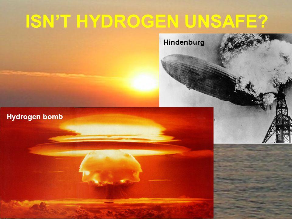 ISN'T HYDROGEN UNSAFE Hindenburg Hydrogen bomb