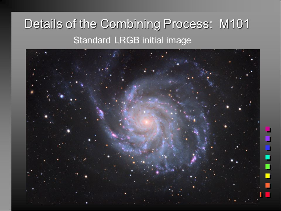 Details of the Combining Process: M101 Standard LRGB initial image