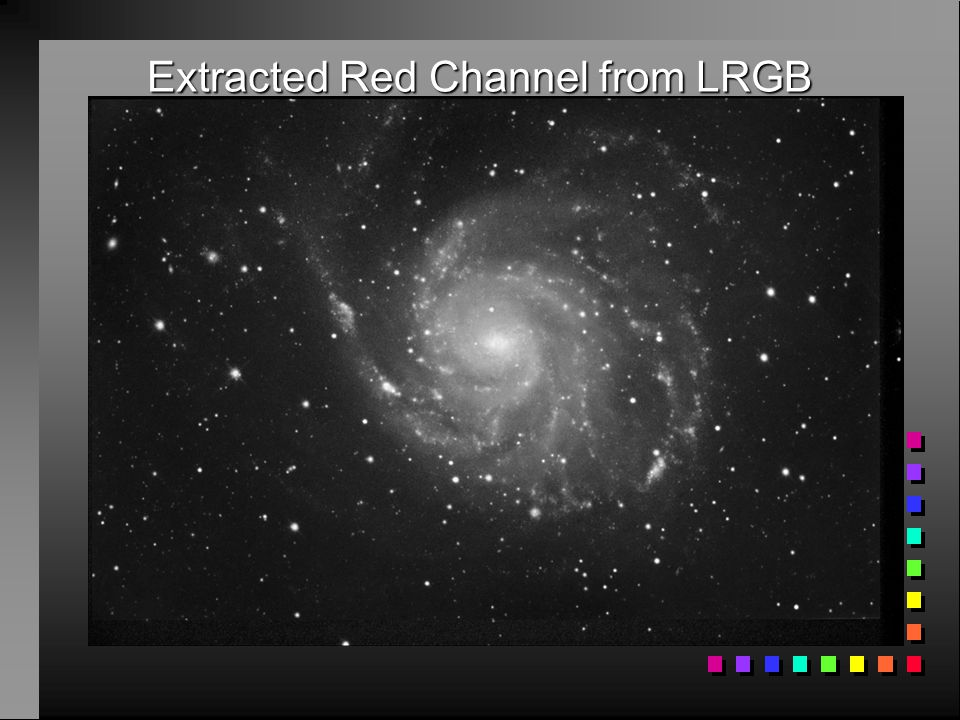 Extracted Red Channel from LRGB