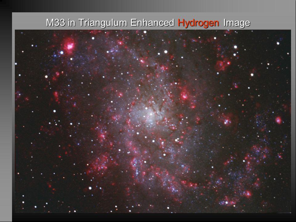 M33 in Triangulum Enhanced Hydrogen Image