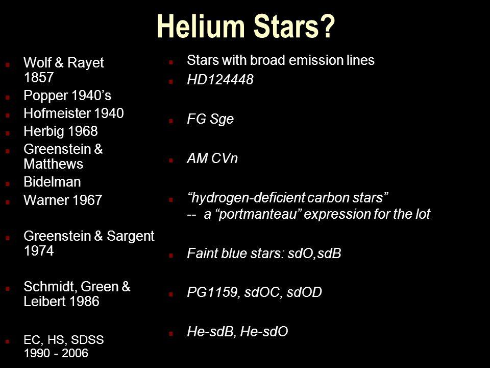 Helium Stars.