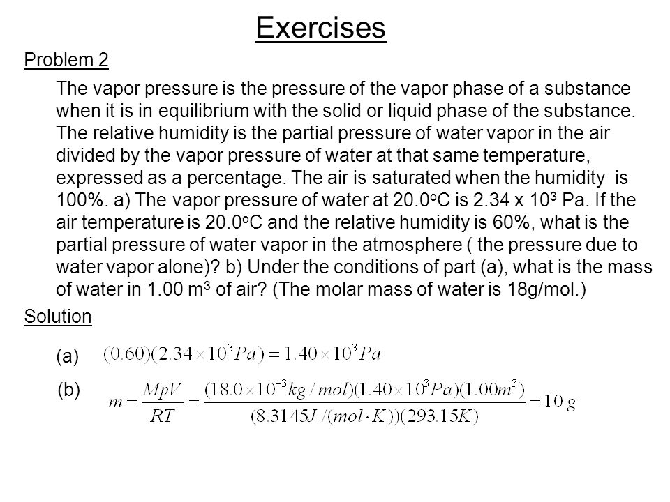 The vapor pressure is the pressure of the vapor phase of a substance when it is in equilibrium with the solid or liquid phase of the substance.