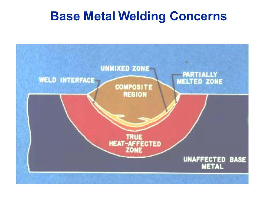 Base Metal Welding Concerns