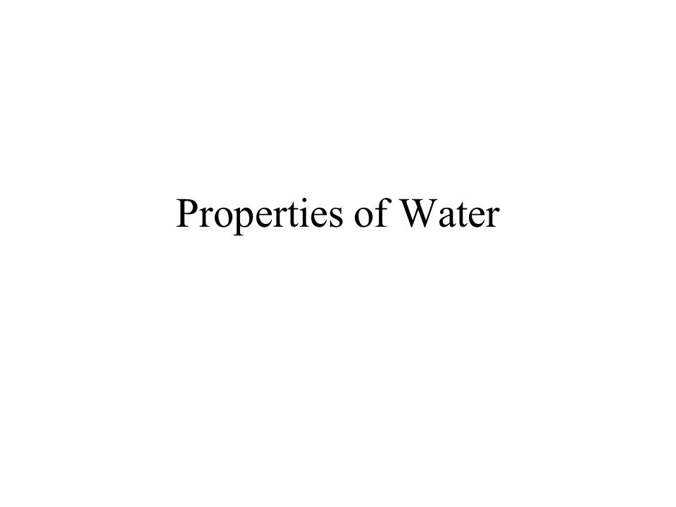 Objectives Describe the structure of a water molecule.