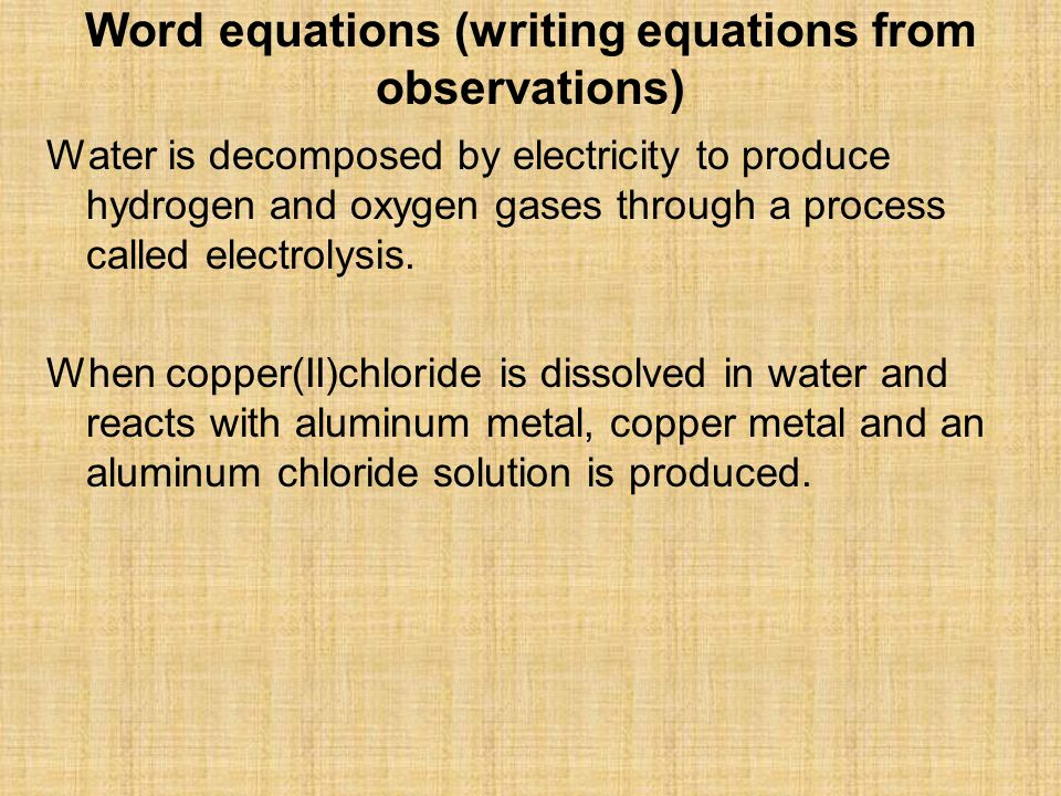 Water is decomposed by electricity to produce hydrogen and oxygen gases through a process called electrolysis.