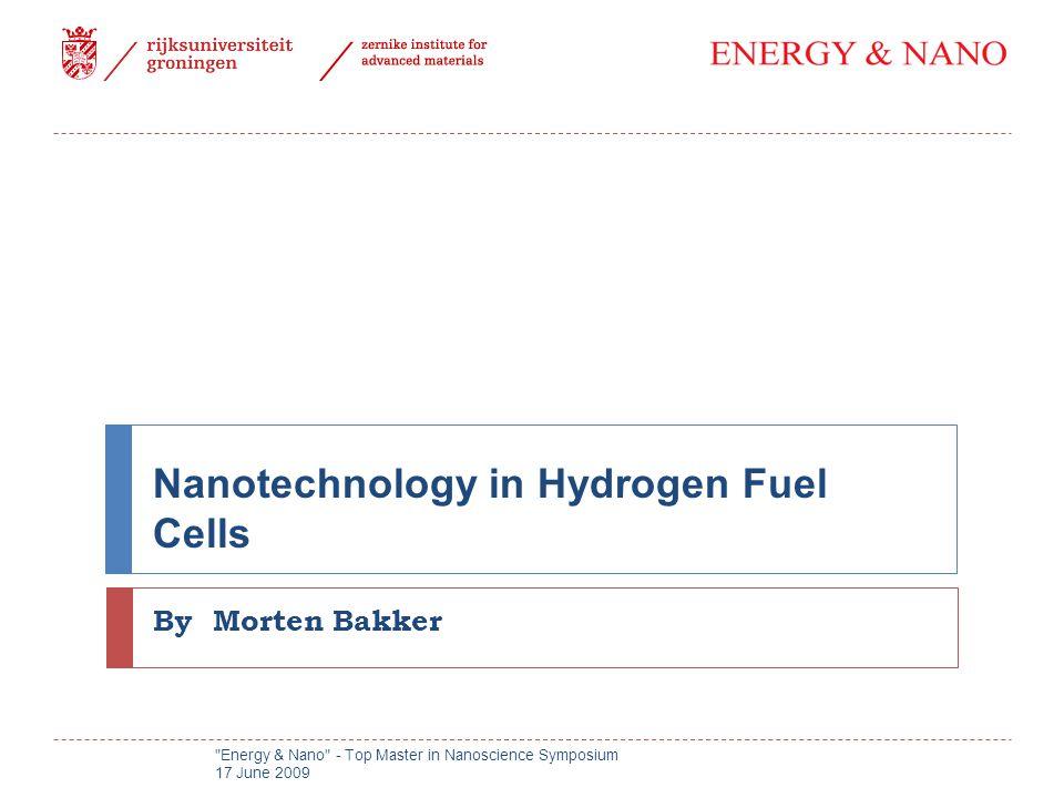 Nanotechnology in Hydrogen Fuel Cells By Morten Bakker Energy & Nano - Top Master in Nanoscience Symposium 17 June 2009