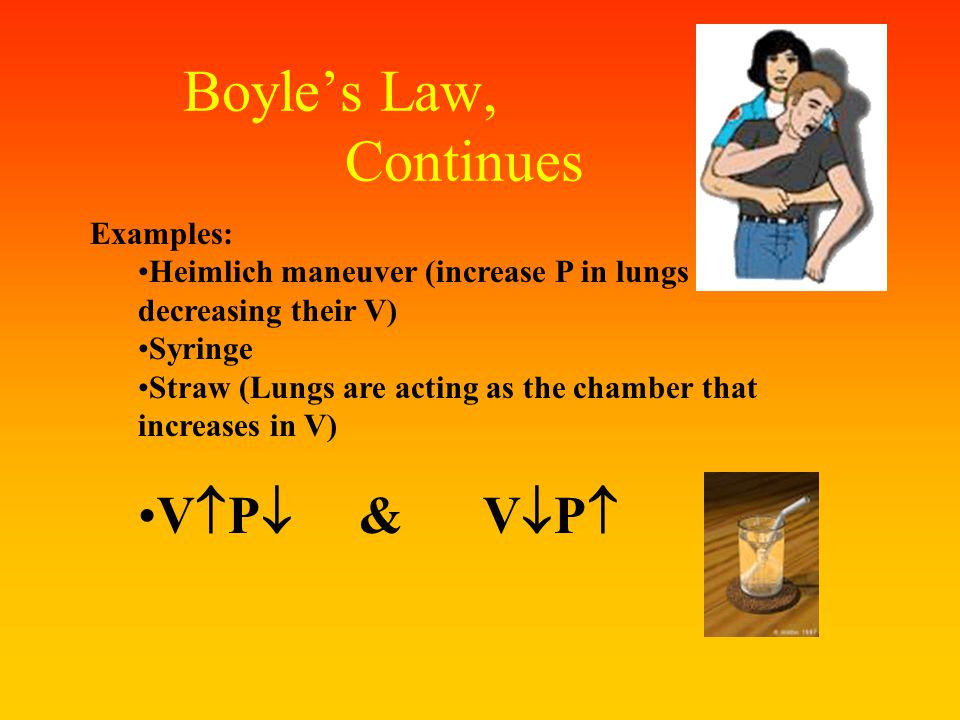 Boyle's Law Boyle's Law – the volume of a definite quantity of dry gas is inversely proportional to the pressure, provided temperature remains constan