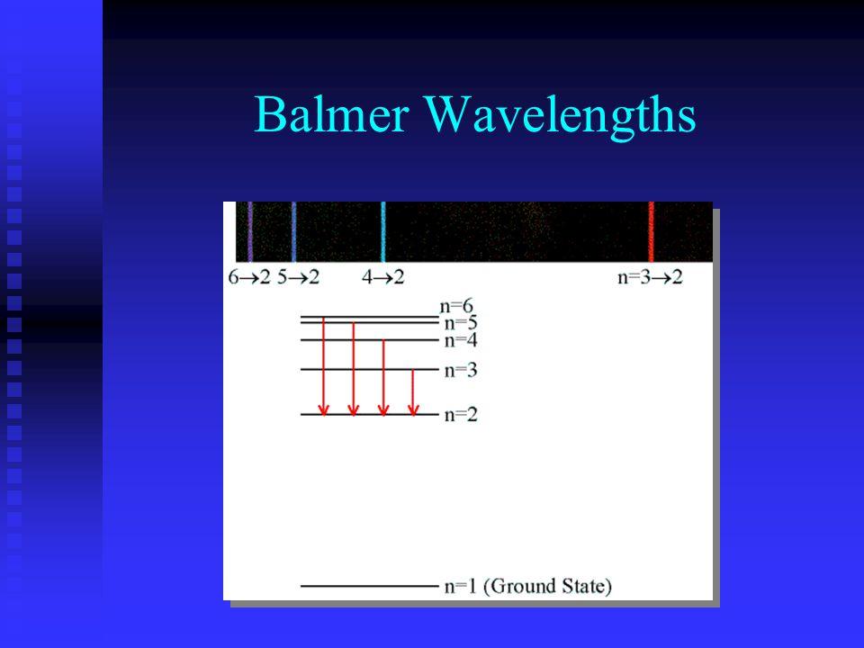 Balmer Wavelengths