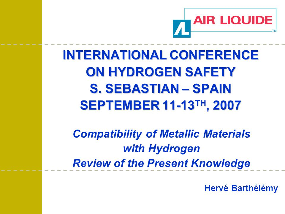The world leader in industrial and medical gases 12 H2 VESSEL.