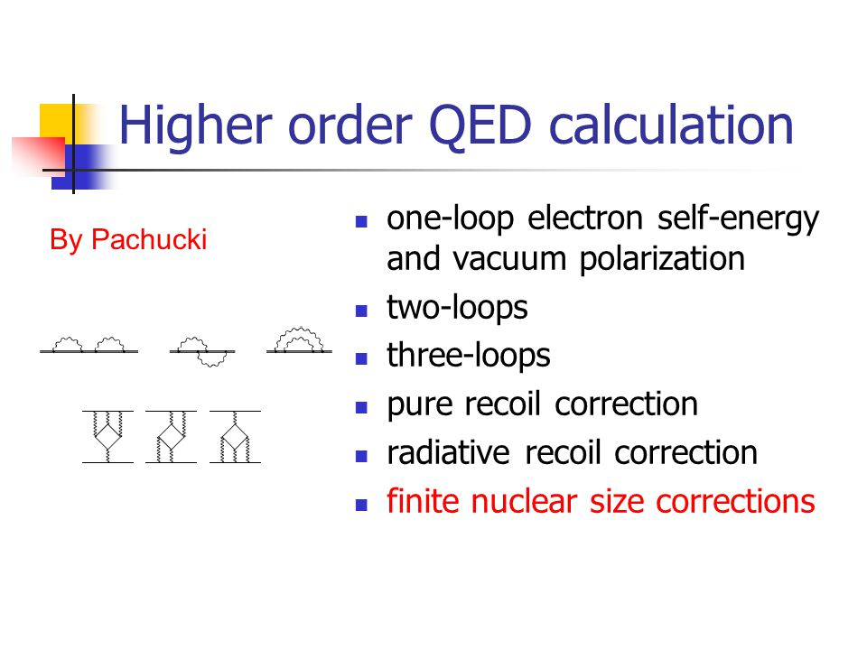 Higher order QED calculation one-loop electron self-energy and vacuum polarization two-loops three-loops pure recoil correction radiative recoil corre