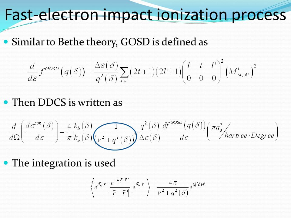 The single differential cross section (SDCS) can be calculated from DDCS The scaling transformations