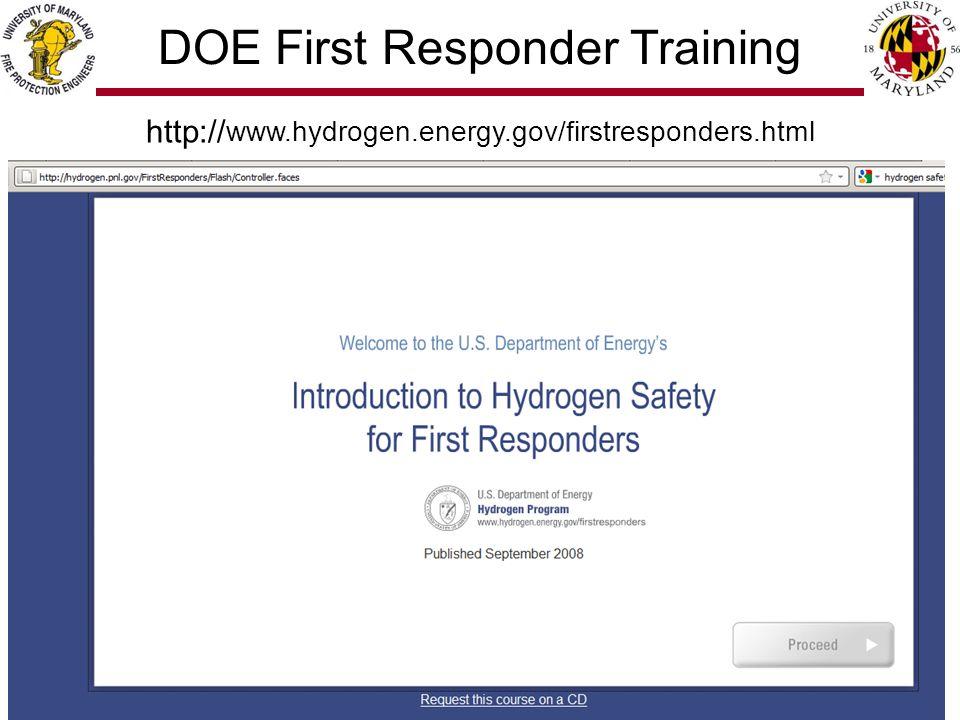 4/28 http:// www.hydrogen.energy.gov/firstresponders.html DOE First Responder Training