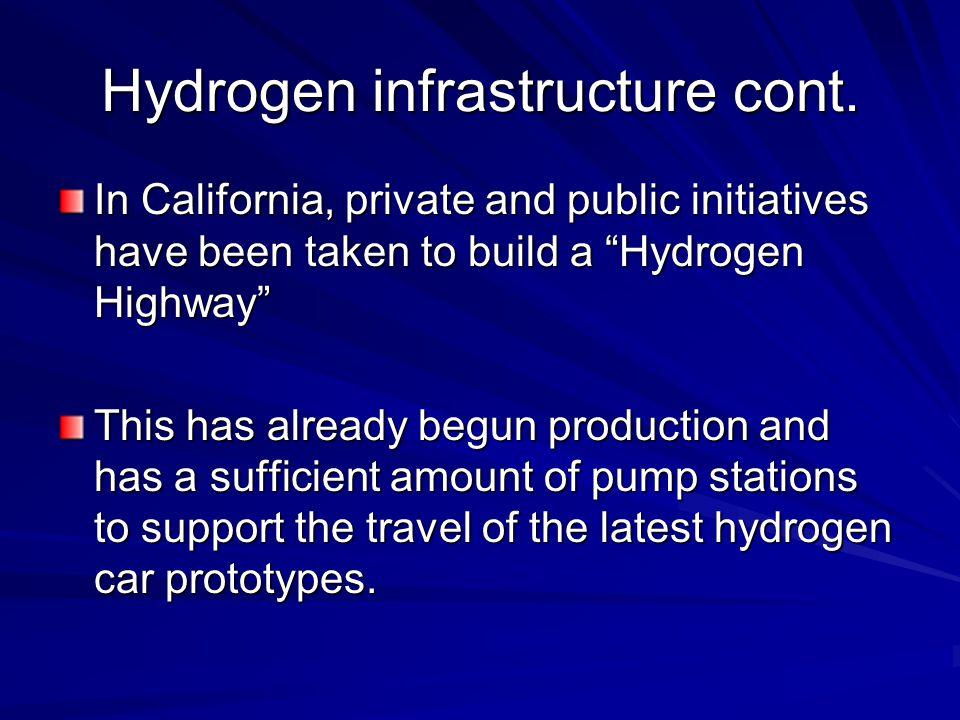 Hydrogen infrastructure cont.