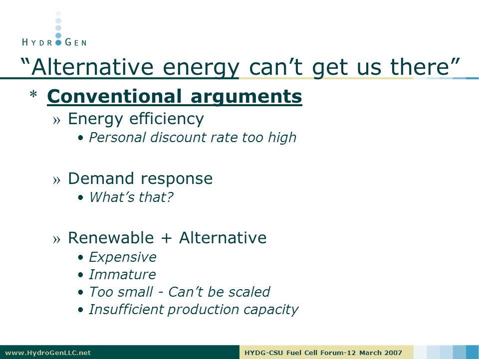 www.HydroGenLLC.netHYDG-CSU Fuel Cell Forum-12 March 2007 Or can they….
