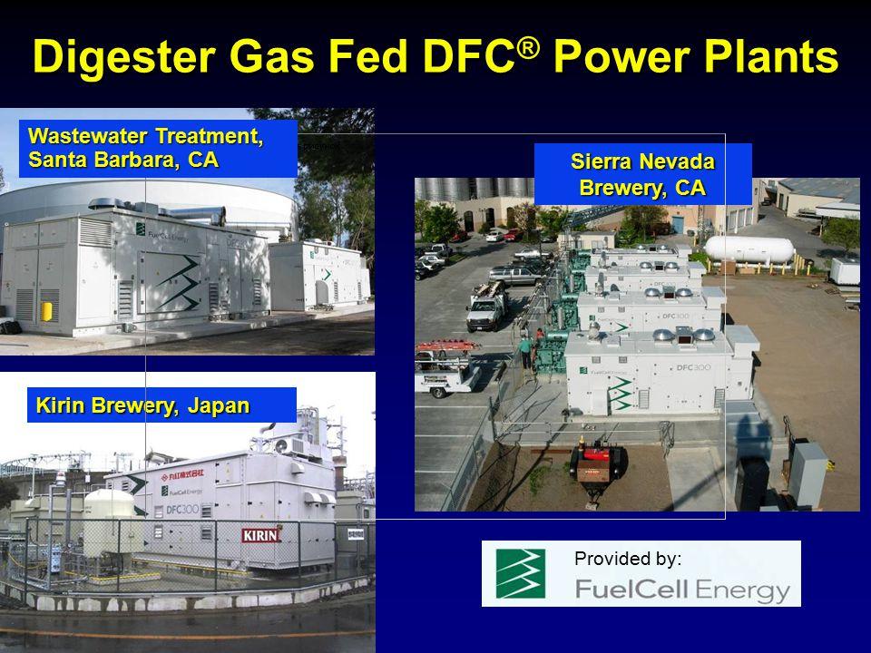 Digester Gas Fed DFC ® Power Plants Kirin Brewery, Japan Sierra Nevada Brewery, CA Wastewater Treatment, Santa Barbara, CA Provided by: