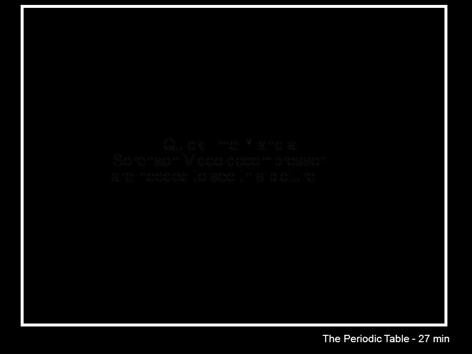 The Periodic Table - 27 min