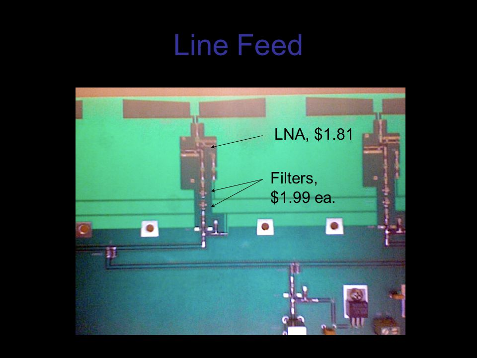 Line Feed LNA, $1.81 Filters, $1.99 ea.