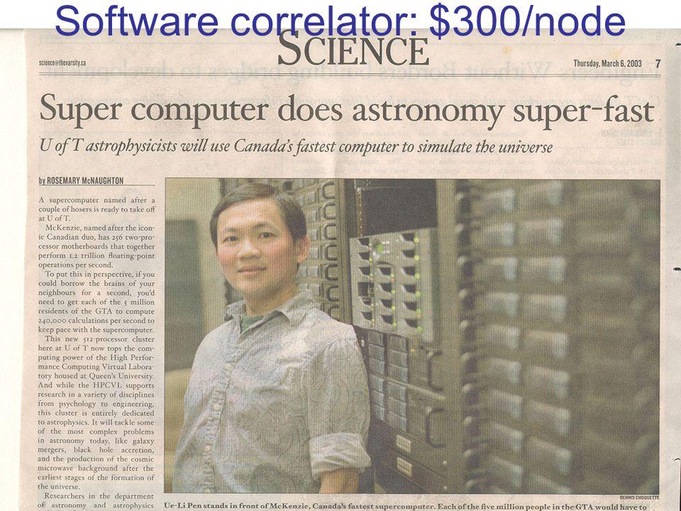 Software correlator: $300/node