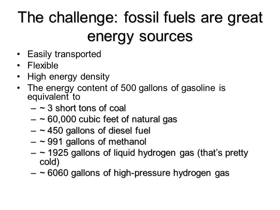 Alternative energy sources Wind Solar Wave Hydroelectric Biodiesel Ethanol Nuclear fission Nuclear fusion Hydrogen