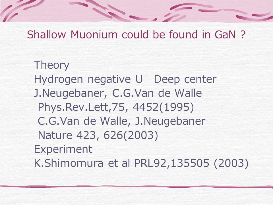 Shallow Muonium could be found in GaN .