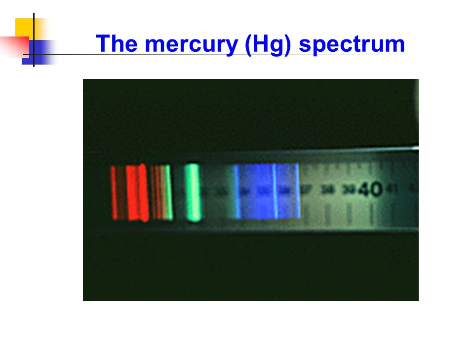 The mercury (Hg) spectrum
