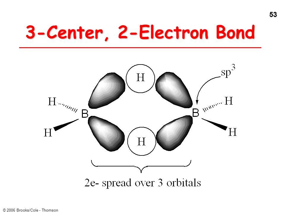 53 © 2006 Brooks/Cole - Thomson 3-Center, 2-Electron Bond