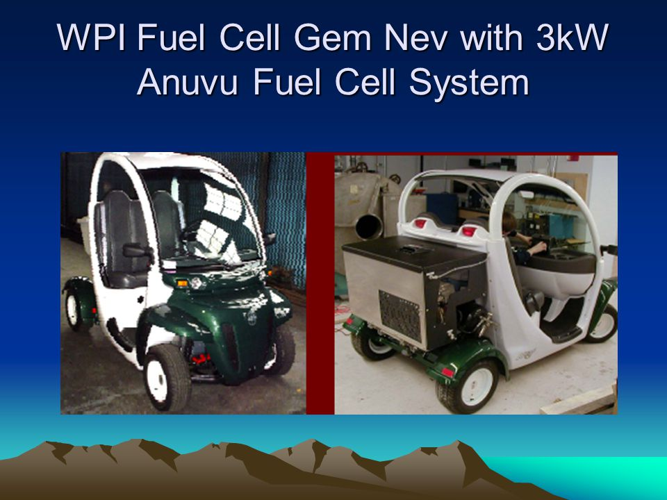 WPI Fuel Cell Gem Nev with 3kW Anuvu Fuel Cell System