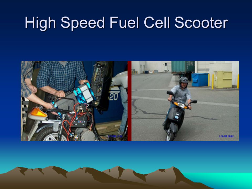 High Speed Fuel Cell Scooter