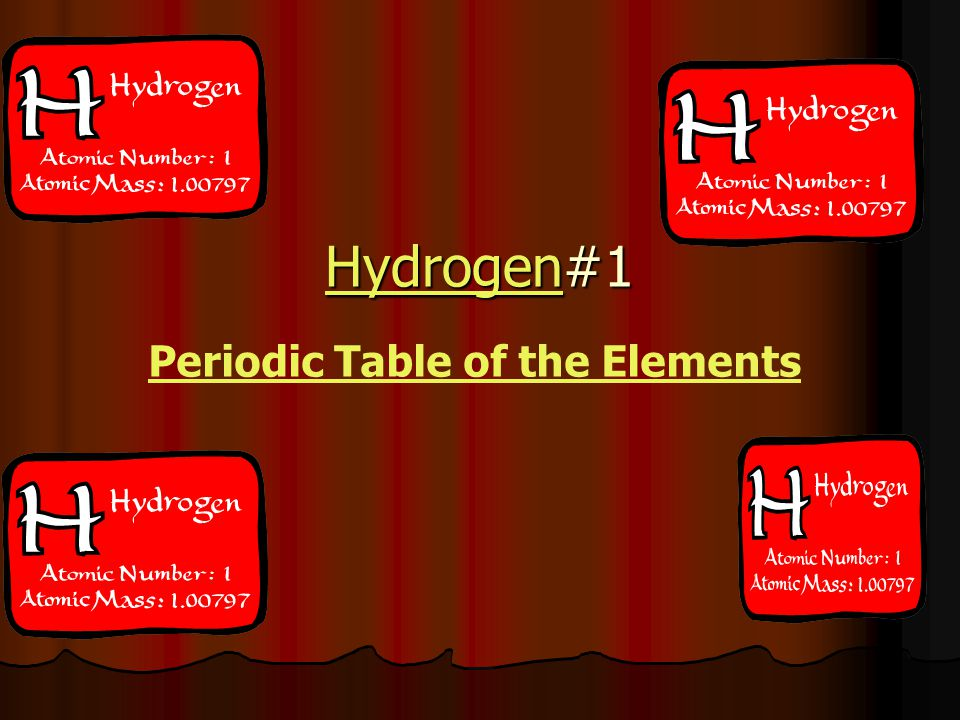 HydrogenHydrogen#1 Hydrogen Periodic Table of the Elements
