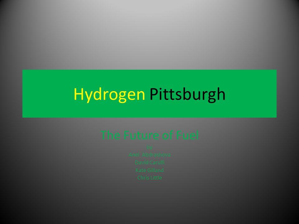 Hydrogen Pittsburgh The Future of Fuel by Anel Abdrashova David Carulli Kate Gilland Chris Little